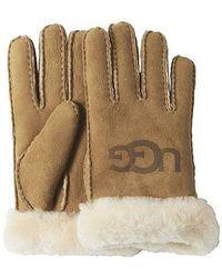 UGG Sheepskin Logo Glove - Brown