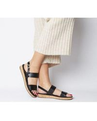 12fc3c3116 Office Strider Sandal Tan Leather in Brown - Lyst