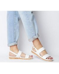 Office Sense- Cork Sole Sandal - White