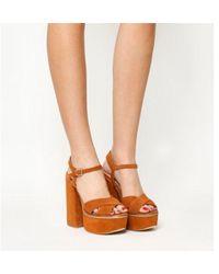 Office Poise Super Platform Sandals - Brown