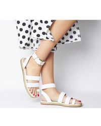Office Sunny- Rope Sole Sandal - White