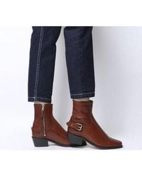 Office Adventure Western Buckle Boot - Brown