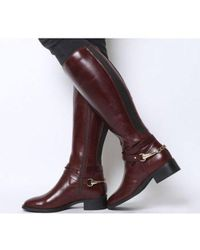 Office Klink- Smart Chain Detail Riding Boot - Red