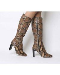 Office Kobra-set Back Heel Knee Boot - Brown