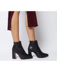 Office After Party-point Platform Boot - Black