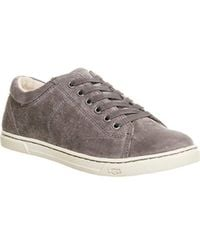 28be354a642 UGG Tomi Suede Lace Up Trainers in Blue - Lyst