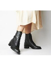 Office Azalea - Lace Up Boot - Black