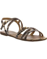 3f40e7888a6d Office Banshee Lace Up Gladiator Sandal in Metallic - Lyst