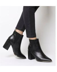 Office - Amazing- Block Heel Point Ankle Boot - Lyst