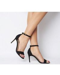 Office Mimosa Two Part Mid Sandal - Black