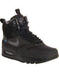 Nike Air Max 1 Mid Sneakerboots Wmns - Black