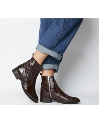 Office Ashleigh Flat Ankle Boots - Brown