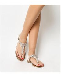 Office - Sapphire- Embellished Toe Post - Lyst
