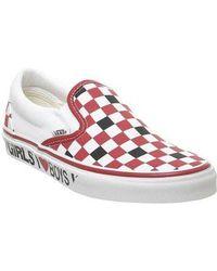 Vans Classic Slip On I - Red