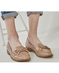 Office Flattered Bow Loafer - Natural