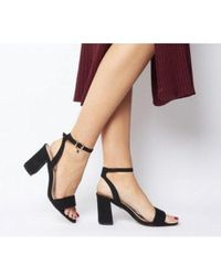 Office Marigold Mid Block With Charm - Black