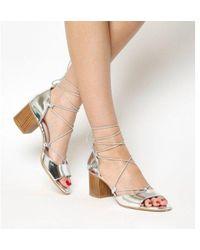Office - Modernist Ghillie Block Heel Sandal - Lyst
