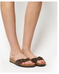 e796f4980de Office Lingo Lace Up Sandals in Brown - Lyst