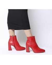 Office After Party-point Platform Boot - Red