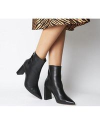 Office Alpha- Pointed Back Zip Boot - Black