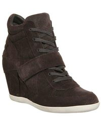 Ash Bowie Wedge Ankle Boot - Grey
