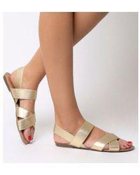 Office - Skippy- Elastic Cross Strap Sandal - Lyst
