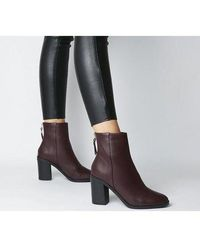 Office - Abject- Back Zip Block Heel Boot - Lyst