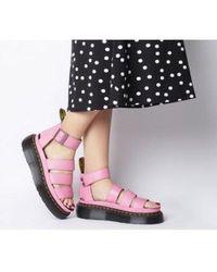 6b231d0d79 Dr. Martens Clarissa Vegan Strappy Flat Sandals in Black - Lyst