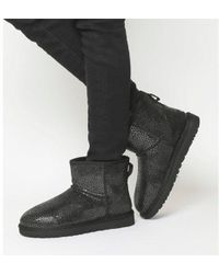 Ugg Gray W Classic Mini Glitzy Women's Low Ankle Boots In Grey Lyst