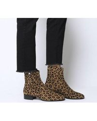 Office Adore- Side Zip Casual Boot - Brown