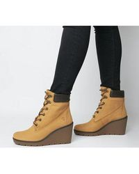 Timberland Paris Height 6 Inch Wedge Dk - Yellow