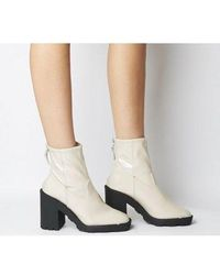 Office Altitude- Chunky Sock Boot - White