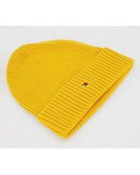 Tommy Hilfiger Cotton-cashmere Beanie - Yellow
