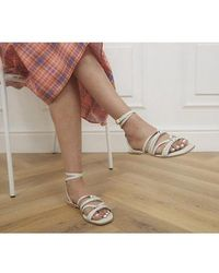 Office Steffi Tubular Ankle Tie Sandals - White