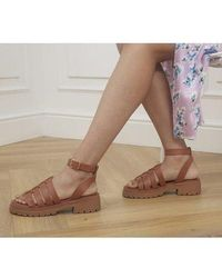 Office Sawyer Chunky Gladiator Sandals - Brown