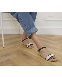 Office Shaping Two Part Espadrille Sandals - Natural
