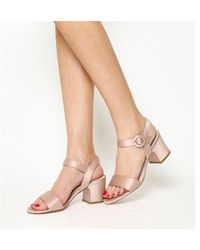 819e30f84f9 Office Melbourne Satin Block Heel Sandals in Black - Lyst