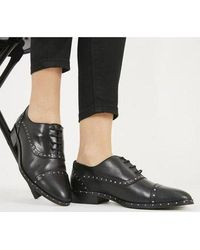 Office Flame- Studded Lace Up - Black
