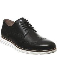 Cole Haan W Original Grand Wingtip Oxford Shoes - Black