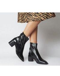 Office Achilles- Unlined Block Heel - Black