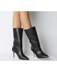 Office Koffee- Pointed Calf Boot - Black