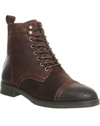 Office - Cage Brogue Boot - Lyst
