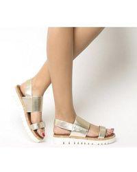 Inuovo Sling Back Sandal - Metallic