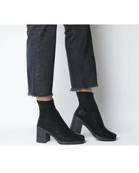 Office Artichoke- Sock Boot Square Toe - Black