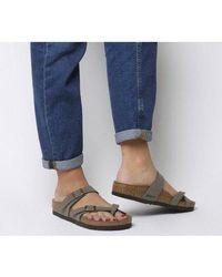Birkenstock Mayari Cross Strap Sandal - Gray