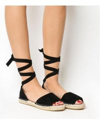 Office - Summer Bay- Espadrille With Ties - Lyst