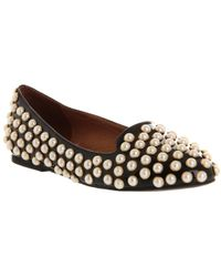 Jeffrey Campbell Martini Pearls Black Leather Pearls