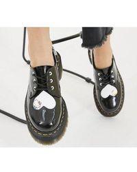 Dr. Martens Hello Kitty 1461 Quad - Black