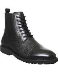Office Bennett Lace Up Boot - Black