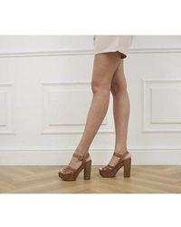 Office - Hesse Wood Block Heel Sandals - Lyst